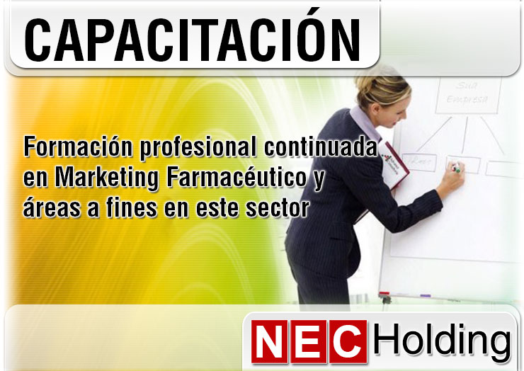 Seminarios, Diplomados, Entrenamiento y Asesoría, sobre Marketing en NEC Holding.