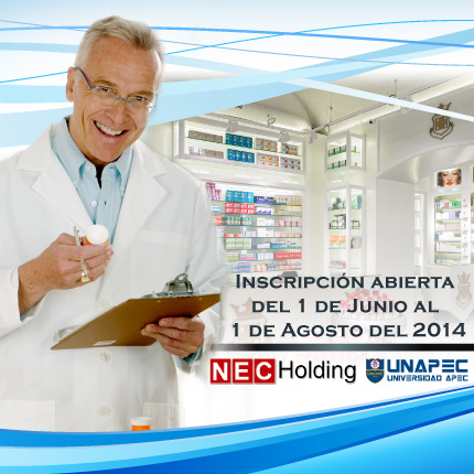 Maestría en Marketing Farmacéutico por NEC Holding y UNAPEC.